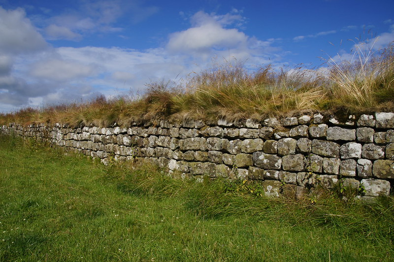Hadrian's Wall (built AD 122) is the most famous Roman site in Britain and served as one of the prime examples of Hadrian's realisation of the Augustan concept of Roman frontier defence.