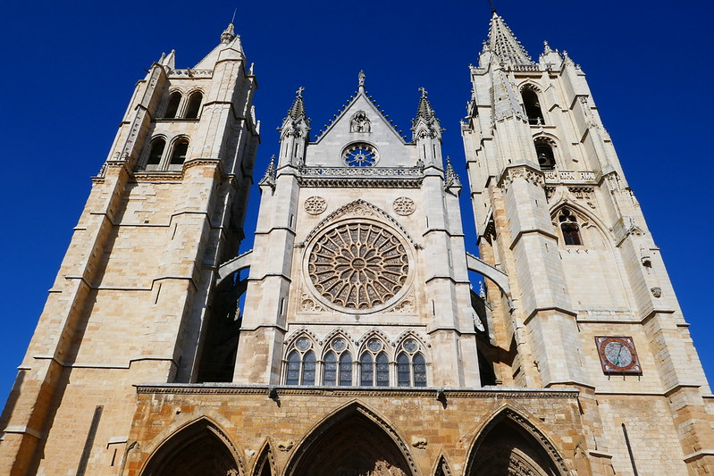 The 13th-14th century cathedral in León is one of Spain's finest Gothic churches