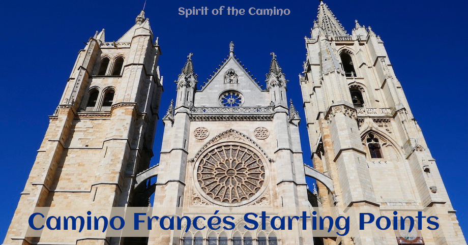 The most popular starting points for the Camino Francés