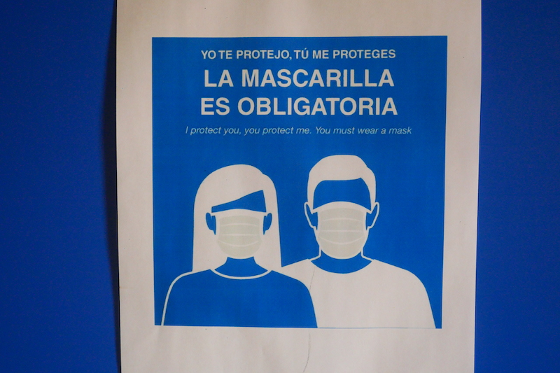 A sign in an albergue in Spain