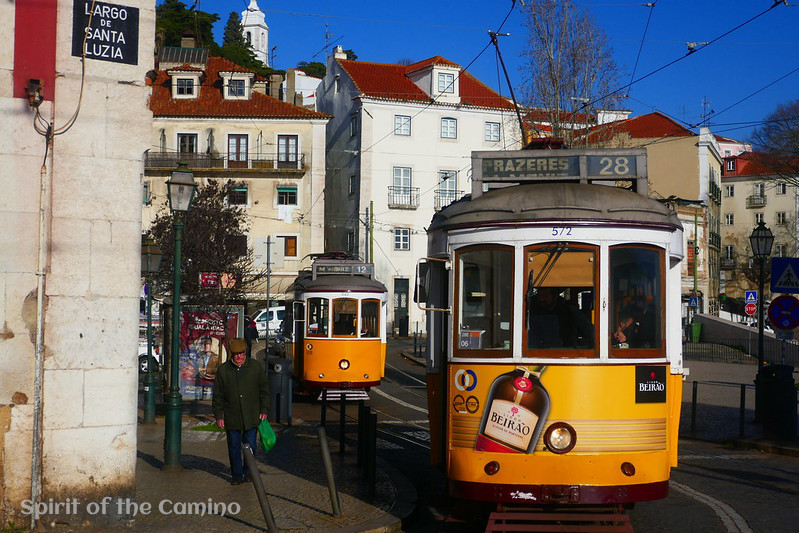 Lisbon's famous No. 28 tram is one of the distinctive features of Portuguese culture that you will come across on the Portuguese Way.