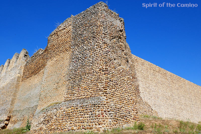 The rock and stone walls of Mansilla de las Mulas, one of the notable camino towns on the Meseta.