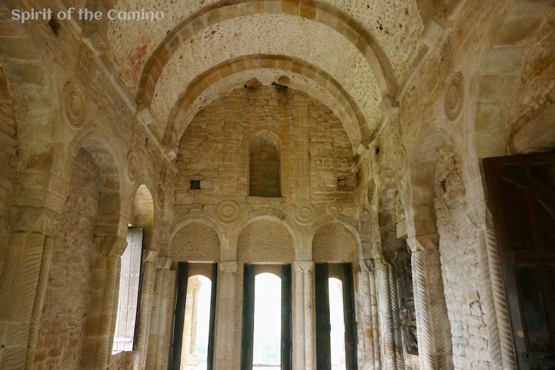 The interior of Santa Maria del Naranco, a ninth-century pre-Romanesque church on the Camino Primitivo.