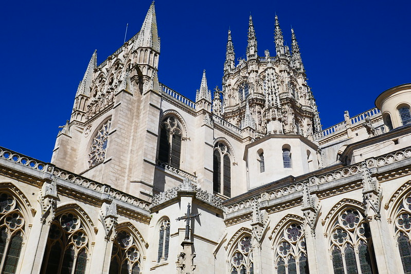 The Gothic cathedral in Burgos, one of the most famous sites on the Camino Francés.