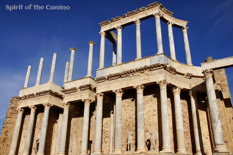 The impressive theatre at Mérida is one of the very best Roman sites on the Camino de Santiago.