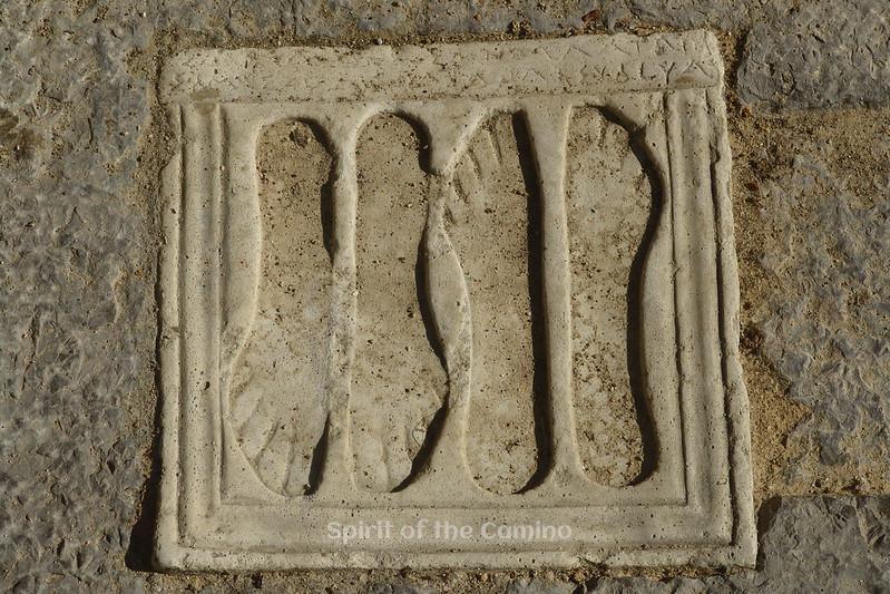 Roman footprints: a votive plaque at Itálica.