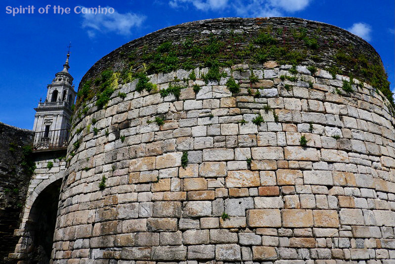 A tower that forms part of Lugo's imposing Roman walls.
