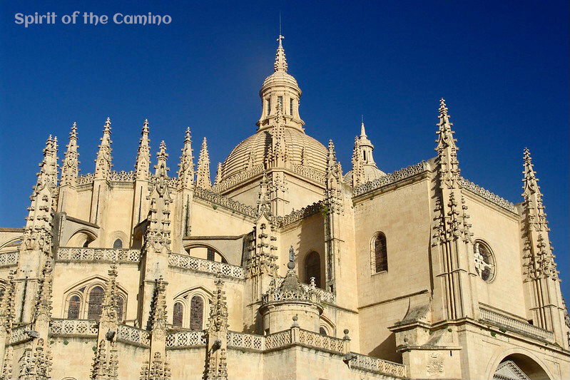 The spires of the Gothic cathedral of Segovia.