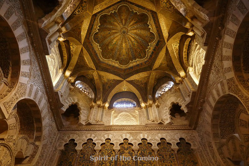 The shell-shaped dome above the mihrab in the Mezquita, Córdoba.
