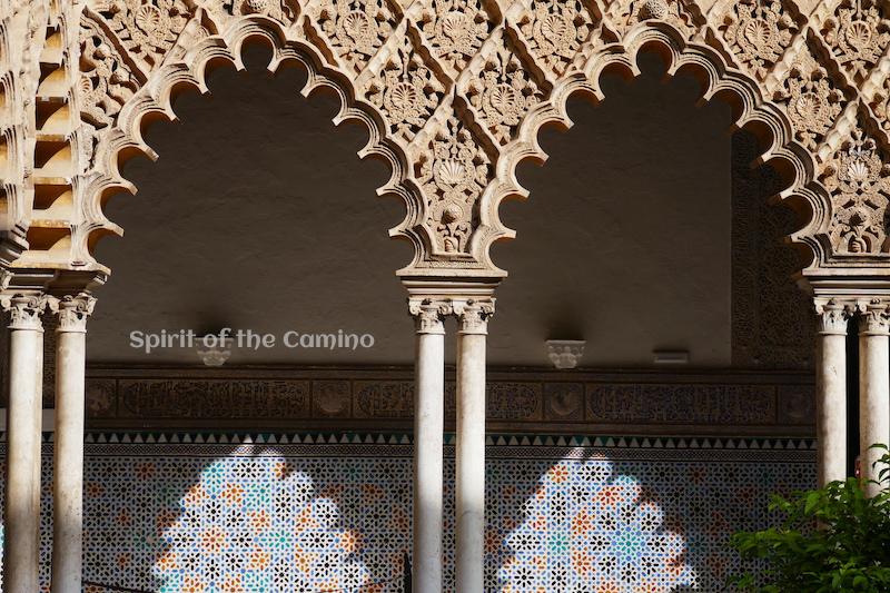 The Patio de las Doncellas at the Real Alcázar in Seville.