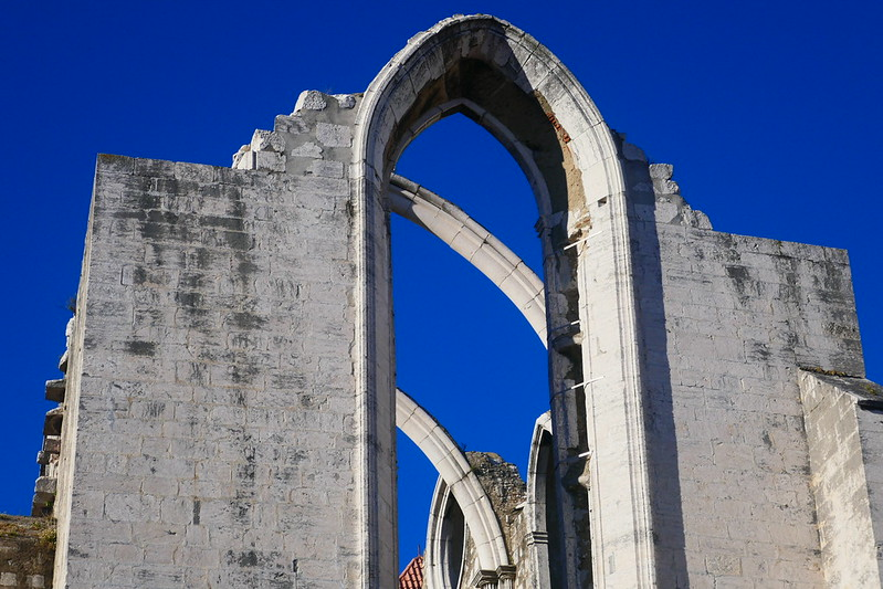 The ruined church of the Convento do Carmo, the symbol of the 1755 earthquake and one of Lisbon's highlights.