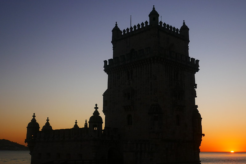 Belém Tower at sunset. 'More than any other building, the tower is a symbol of Lisbon's connection with and command of the sea,' wrote Malcolm Jack in his Lisbon biography 'City of the Sea'.