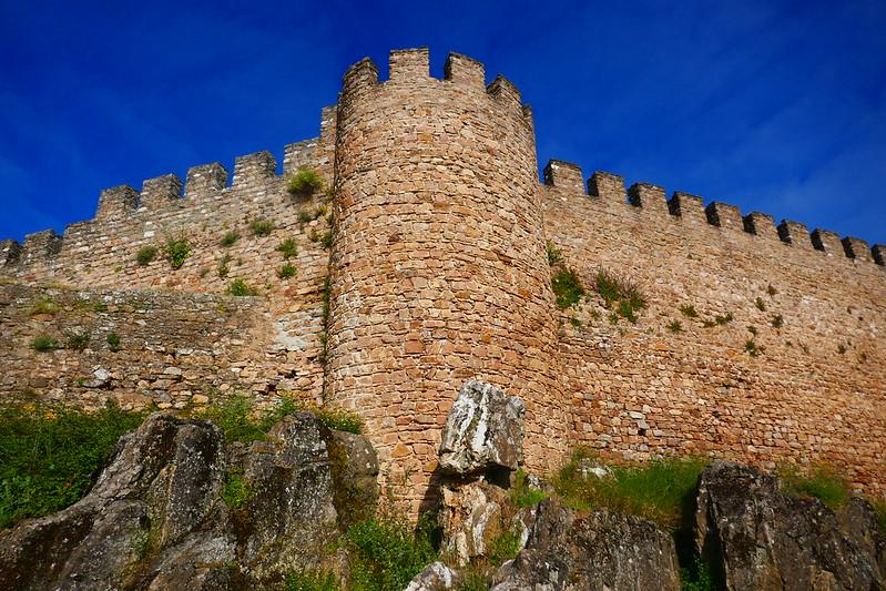 The walls of Estremoz's castle.