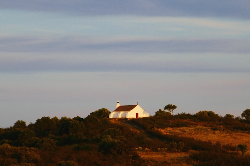 Dusk at the isolated village of Mesquita.