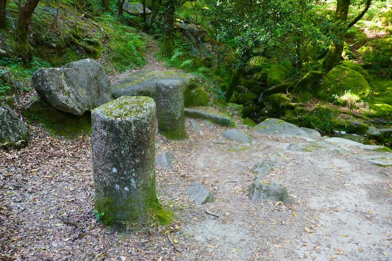 Roman milestones on the Caminho da Geira e dos Arrieiros.